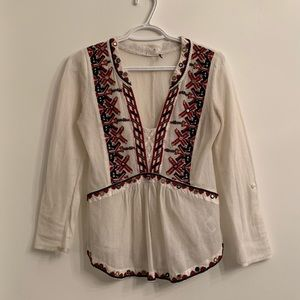 Anthropologie | Embroidered Shirt